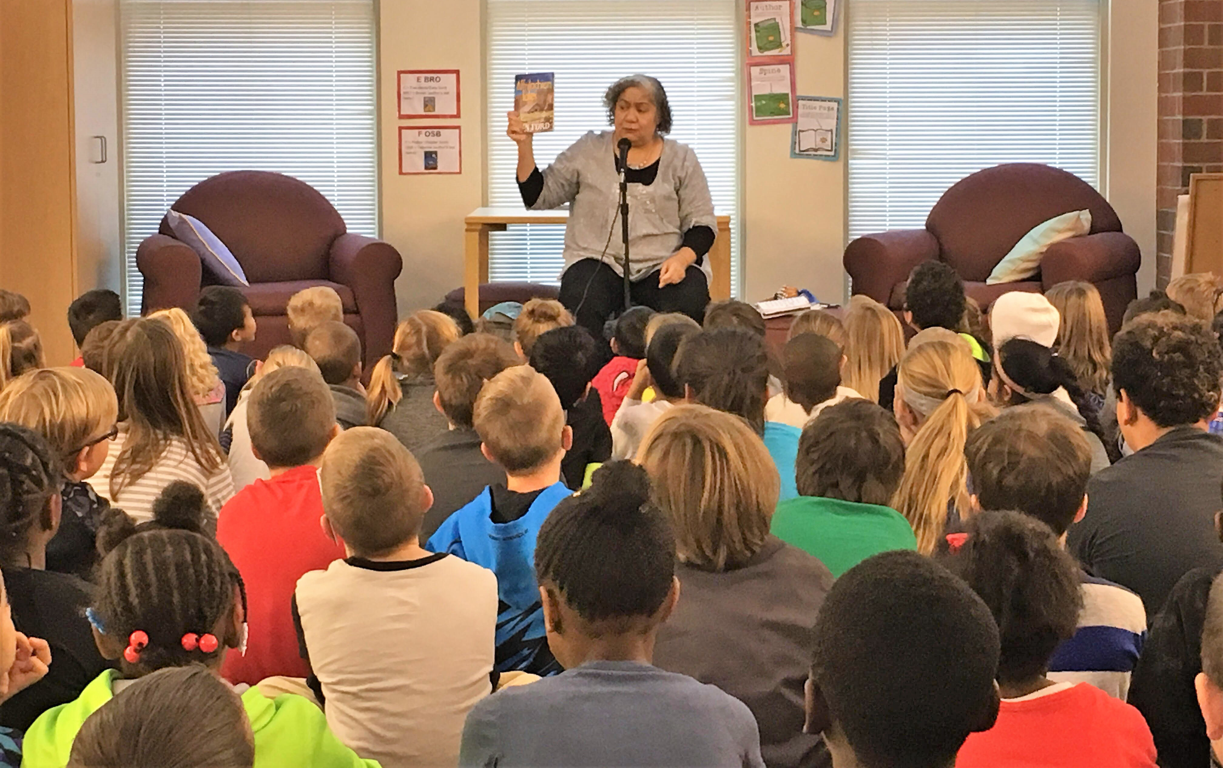 Lyn Ford captivated Fouse students with her storytelling
