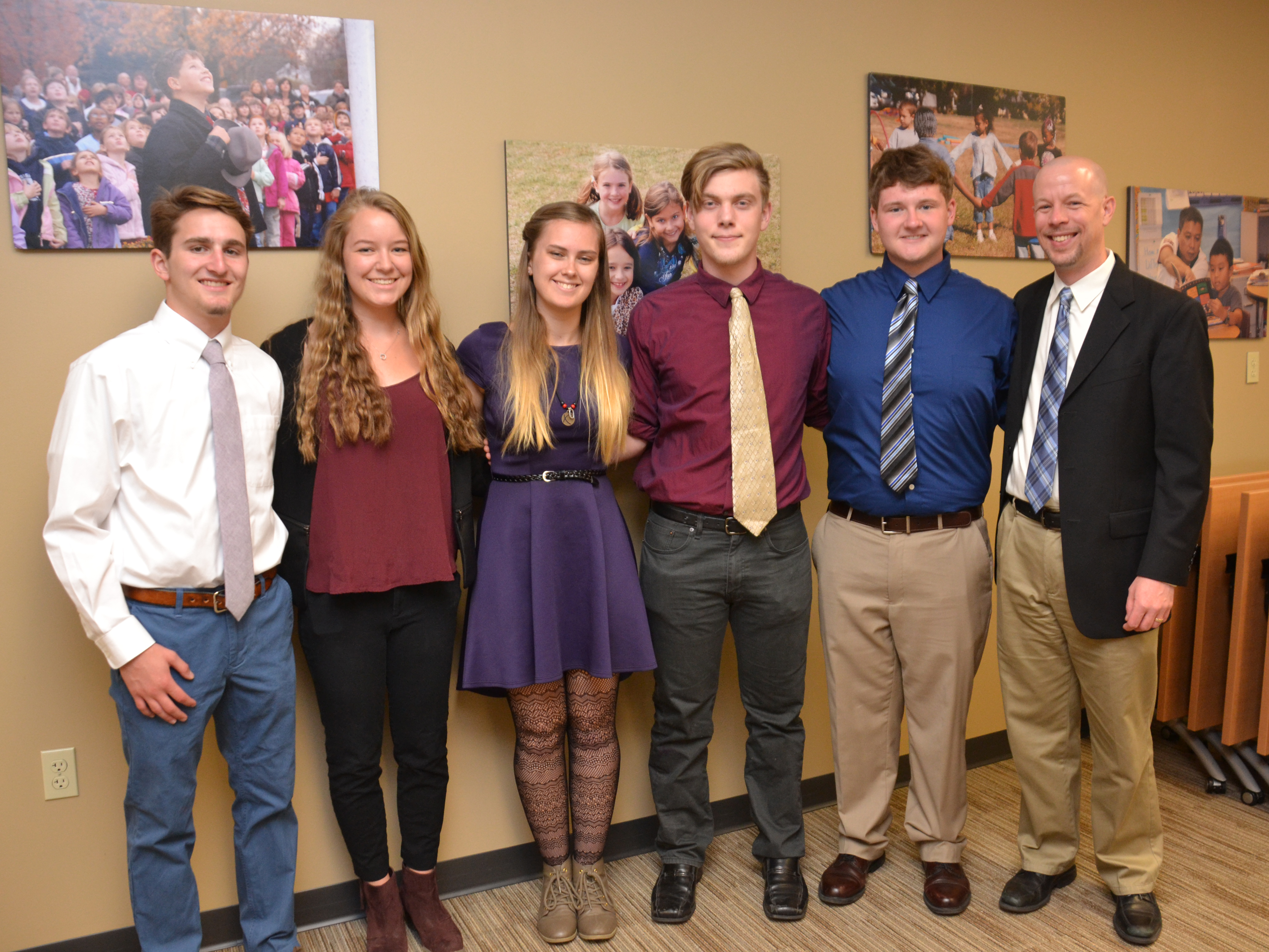 North students who worked on the Corna Kokosing project pictured Assistant Principal Scott Gaddis