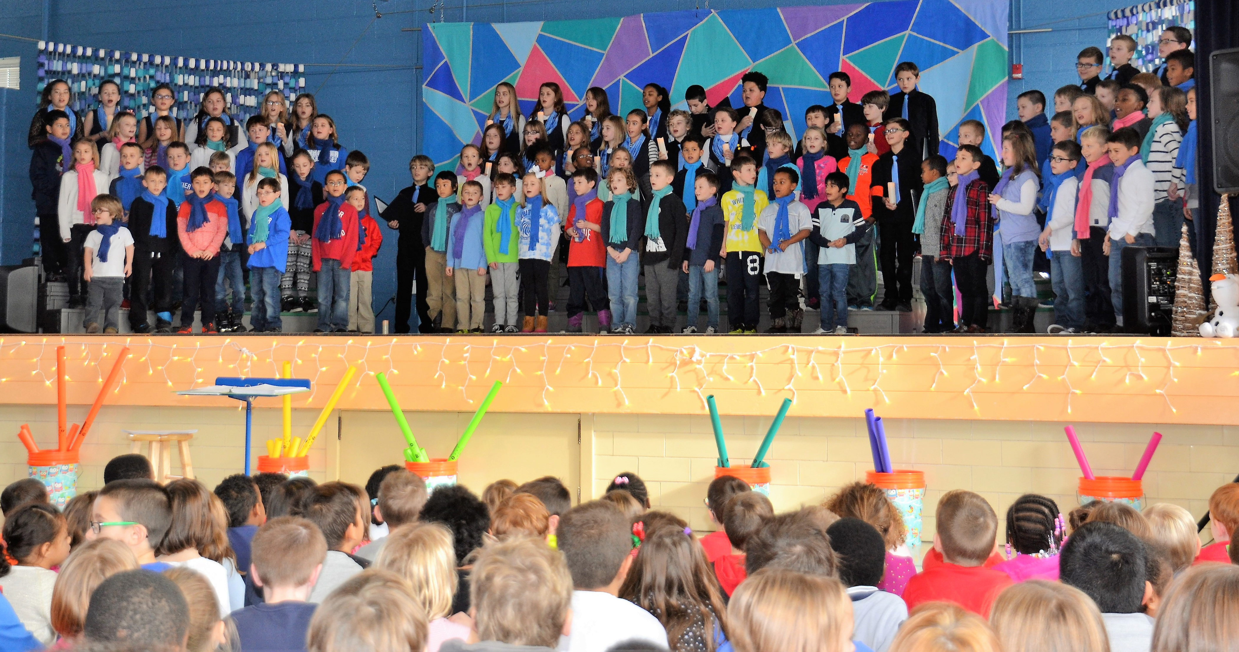 """Whittier students perform during the """"A Winter Spectacular"""" concert"""