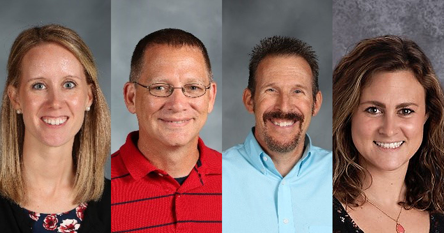 Westerville Educators in the Running for 2019 Teacher of the Year; Abby DeChant, Scott Delligatti, Jim Ledford and Caitlyn Maloy.