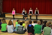 Alcott Students Entertained by Irish Dancers on St. Patrick's Day
