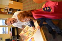 Alcott Hosts Superhero Family Reading Night