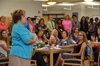 Dr. Nancy Nestor-Baker addresses new teachers