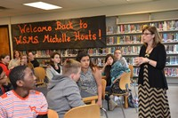Author Michelle Houts Returns to her Alma Mater, Walnut Springs Middle School