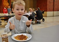 Pancakes are Enjoyed by Alcott Families at Annual Breakfast Gathering