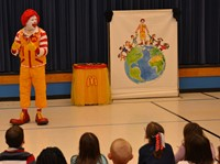 Ronald McDonald Brings his Friendship Adventure to Annehurst Elementary School
