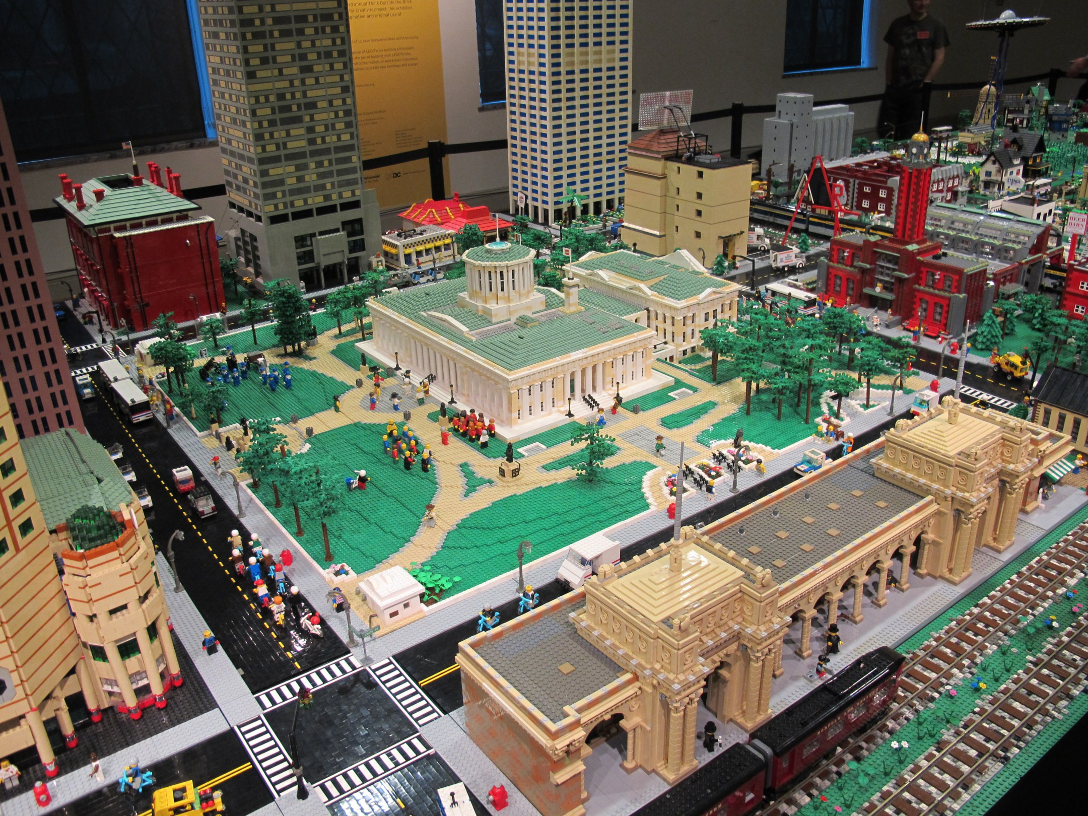 Lego sculpture depicting the Columbus downtown