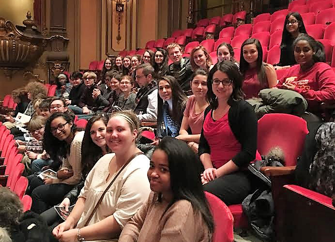 WNHS orchestra students at the Ohio Theater