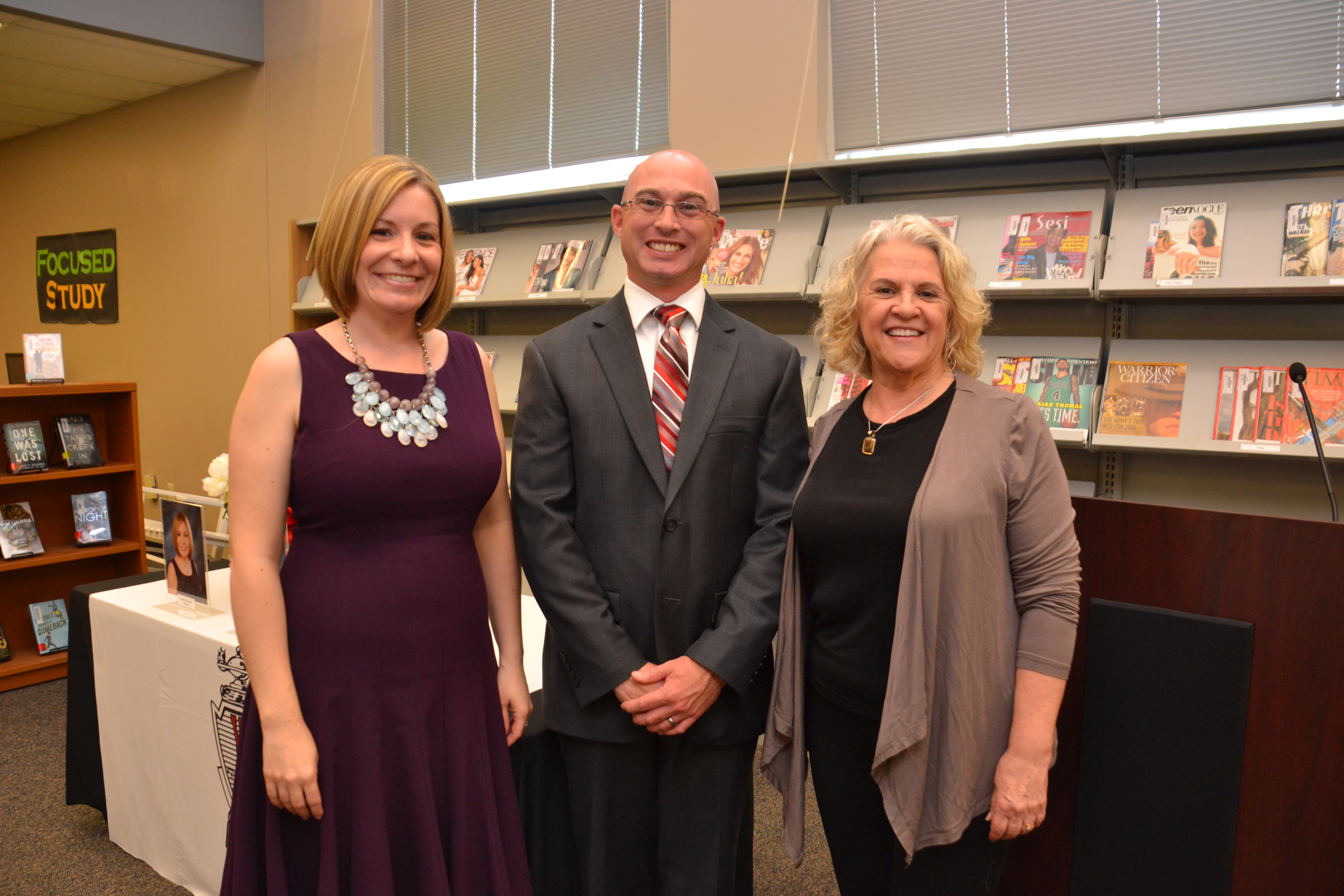 WSHS Alumni Hall of Fame inductees Jennifer Winters, James Gaul and Christine Evenson.