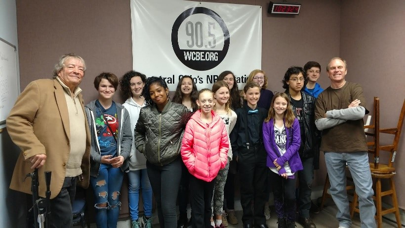 Middle school students at WCBE 90.5