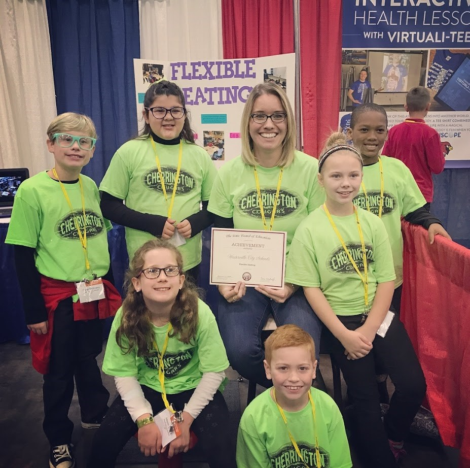 Cherrington students pictured at the OSBA conference