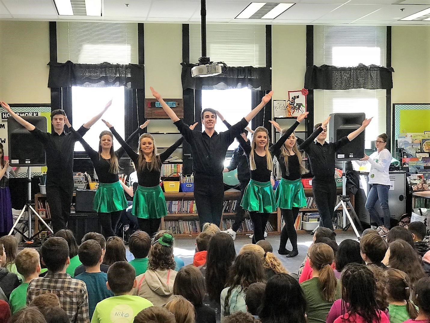 Irish dance troupe performing
