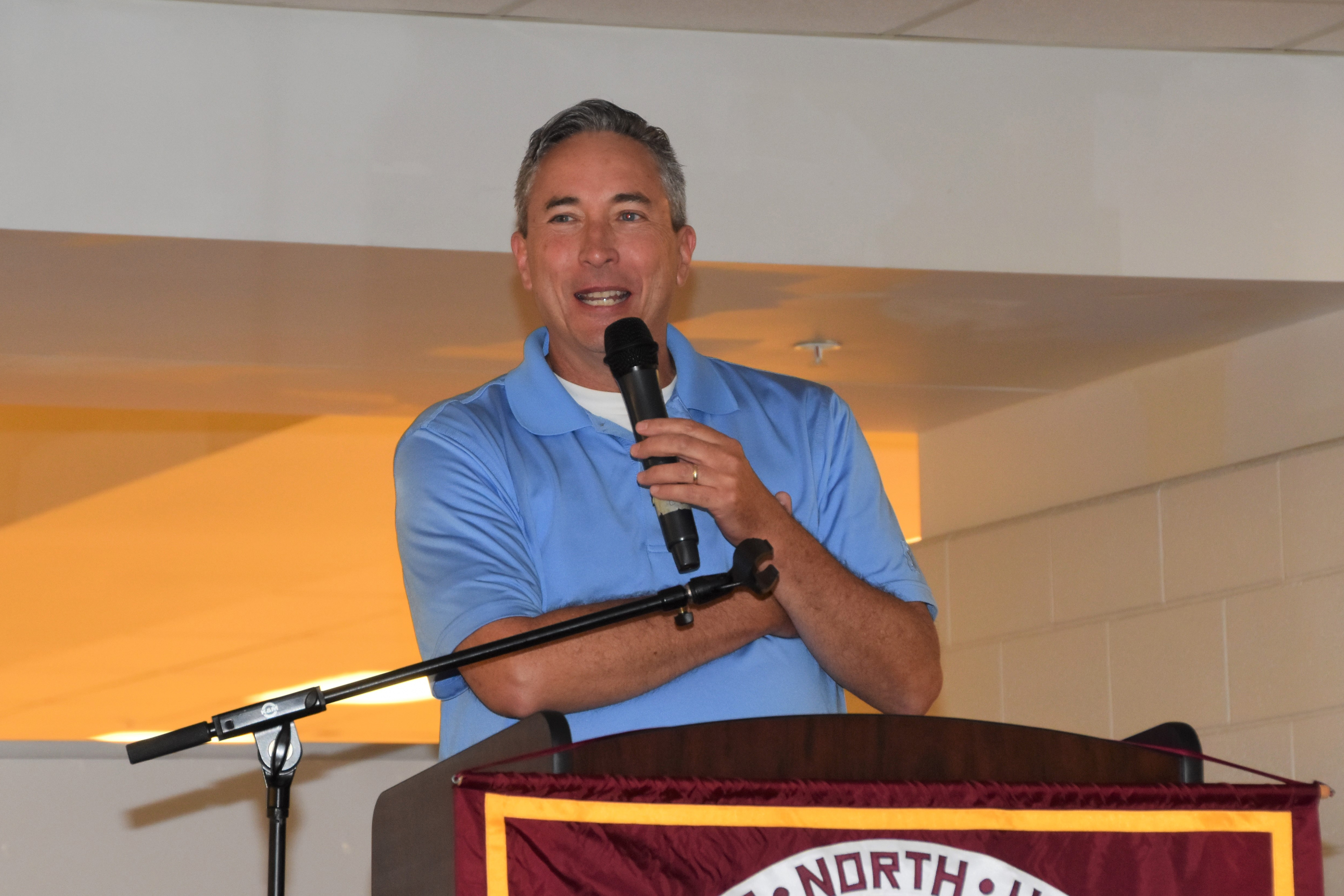 Joe Meyer, featured speaker at Westerville North High School