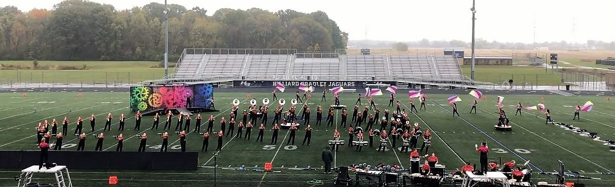 Westerville South Marching Band performs in state competitions