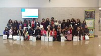Sixth grade girls from Walnut Springs learn about careers in STEM