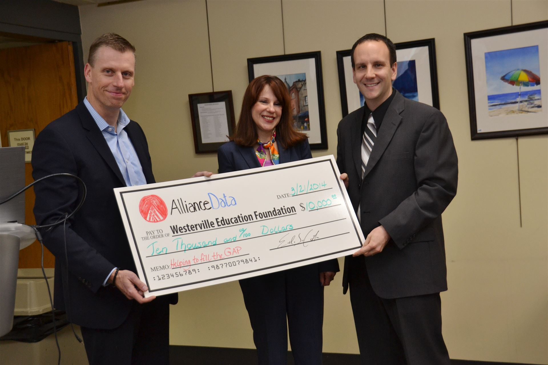 Westerville Education Foundation donation acceptance
