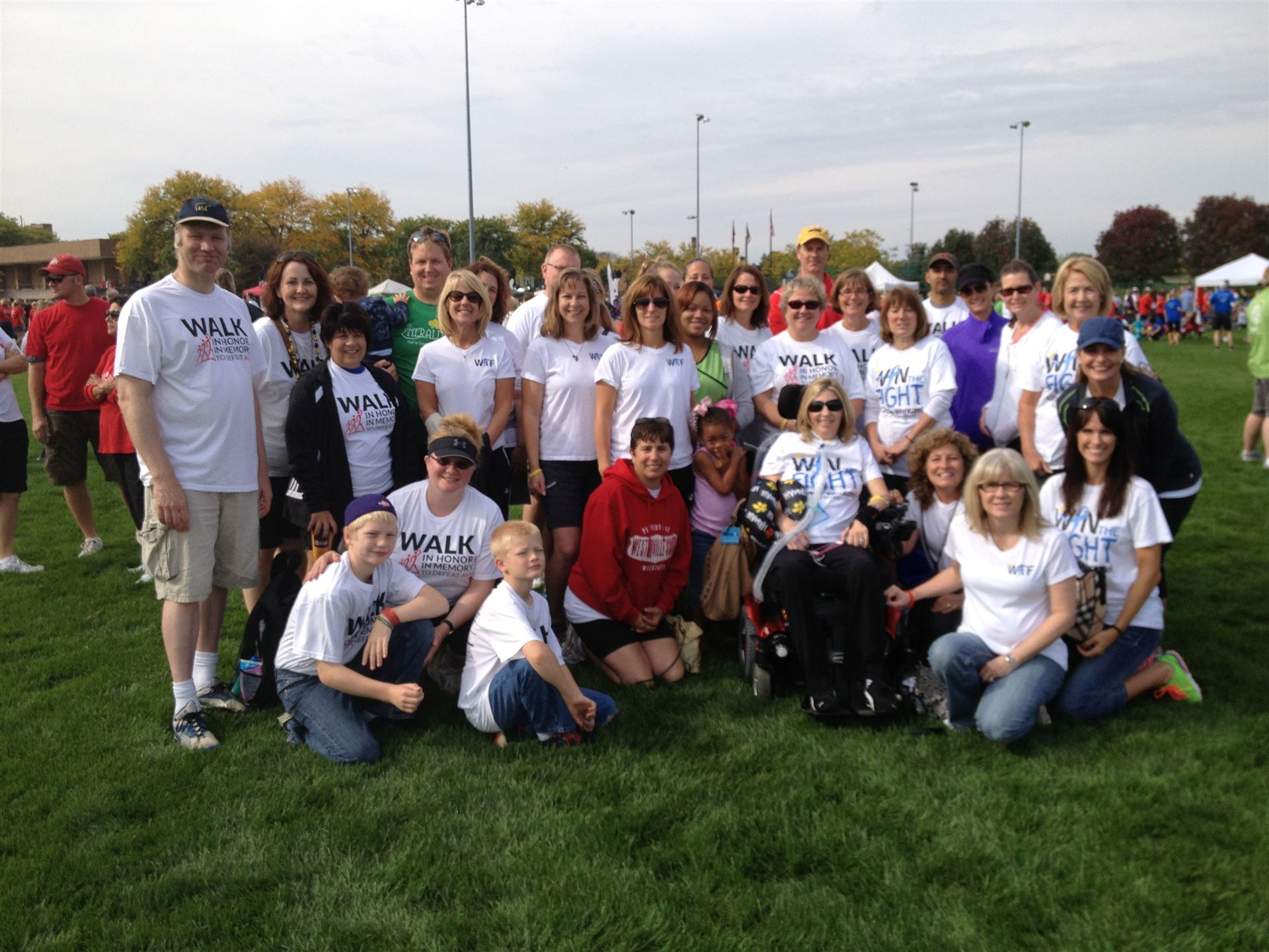 """Westerville Crowes for Cindy"" Walkers pose with Cindy Crowe"