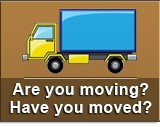 Moving? Moved! Click to update address and contact information