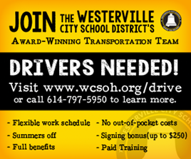 Join the Westerville City School District's Transportation Team. Click to learn more.