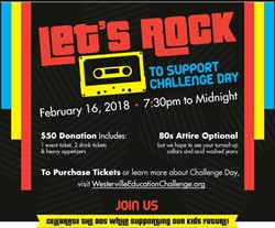 Flier: Rock This Town 80s Party on February 16
