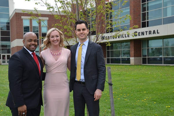Westerville Central inducted Ron Jordan, Kathleen Shingledecker and Tyler Reece into its Alumni Hall of Fame.