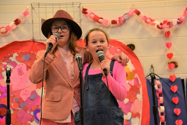 "Whittier pupils performed at the ""Share the Love"" program."
