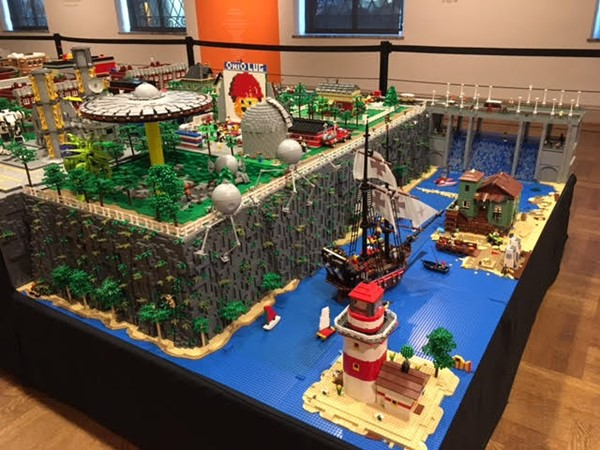 Teacher Eric Cacioppo's Lego creation was displayed at the Columbus Museum of Art.