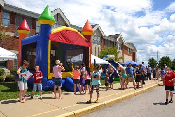 Students enjoyed a Back to School Carnival at Alcott Elementary.