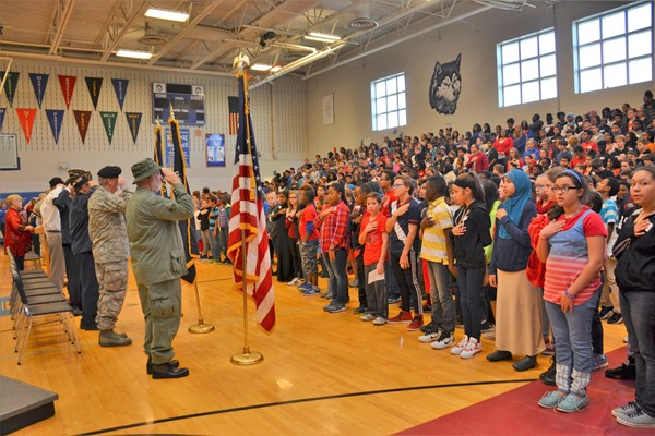 Heritage hosted its annual Veteran's Day assembly.
