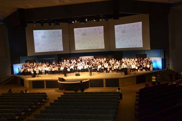 Students from five elementary schools performed in Nations Together in Song.