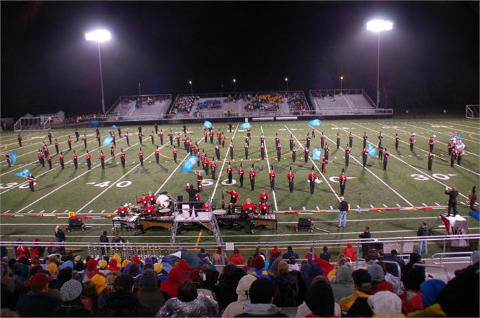 The eighth annual Westerville Central Band Classic was held on October 2 in Warhawk Stadium, where 14 schools performed.