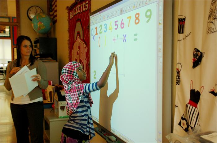 At Huber Ridge Elementary and other schools throughout the district, students and teachers are taking advantage of new learning tools like the Smart Board.