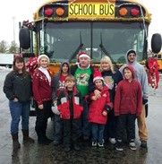 Bus drivers at Christmas Parade