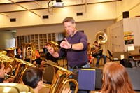 Tony Zilincik Conducts Tuba/Baritone Workshop at Blendon Middle School
