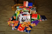 Collected school supplies