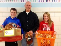 "Whittier Students Help Those in Need by Filling ""Gobble Gobble"" Bags"