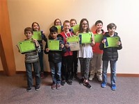 Emerson Geography Bee competitors