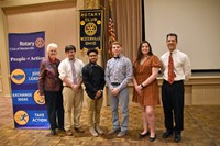 Rotary Club Students of the Month for April