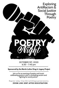 Poetry Night Oct. 1