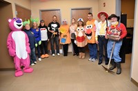 Transportation Staff in Halloween Costumes