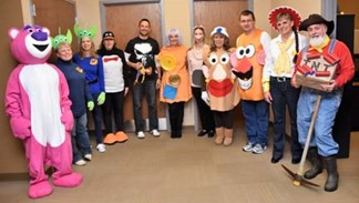 Transportation celebrates Halloween