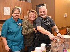 Transportation staff celebrate National Eat Ice Cream for Breakfast Day